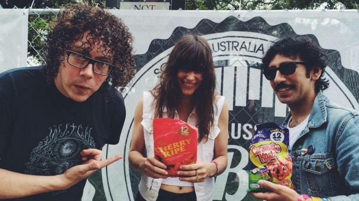 We ate some Aussie Food at SXSW w/ pals in Melbourne band Pretty City